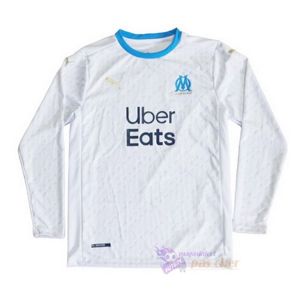 Magasin Foot PUMA Domicile Manches Longues Marseille 2020 2021 Blanc
