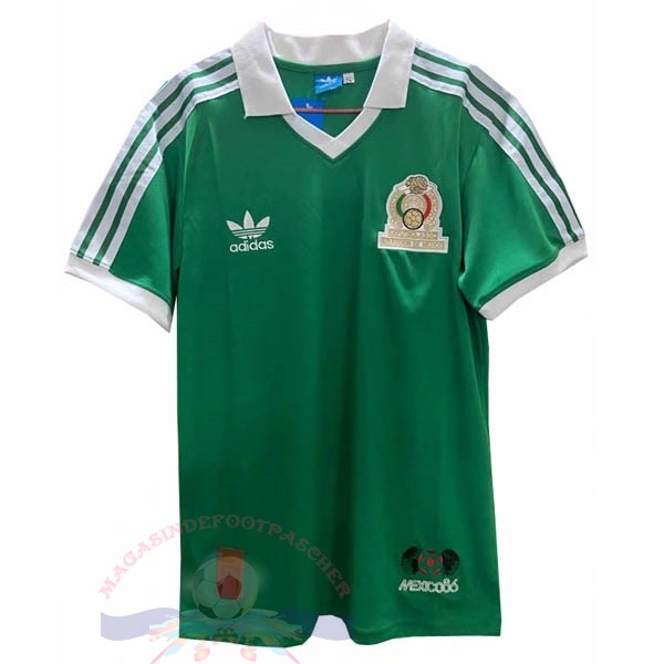 Magasin Foot adidas Domicile Maillot Mexico Retro 1986 Vert