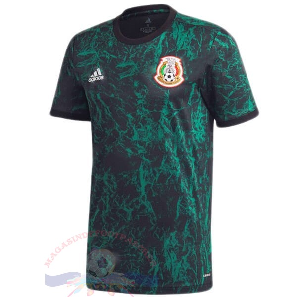 Magasin Foot adidas Pre Match Maillot Mexique 2020 Bleu