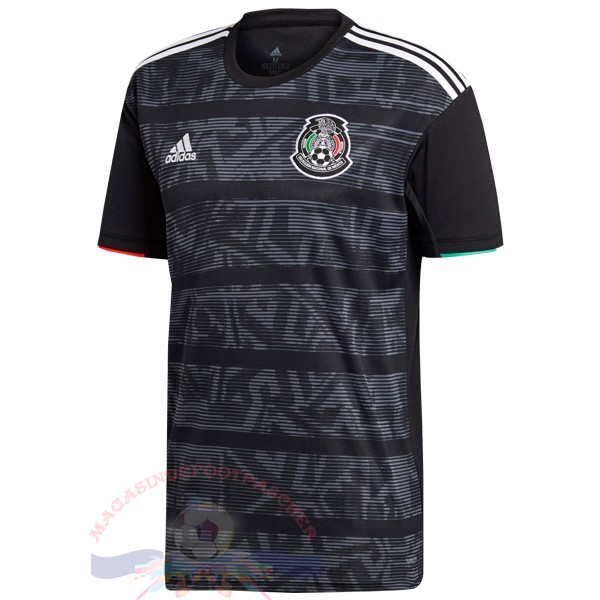 Magasin Foot Adidas Thailande DomiChili Maillot Mexico 2019 Noir Gris