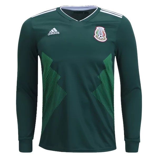 Magasin Foot adidas Domicile Manches Longues Mexico 2018 Vert