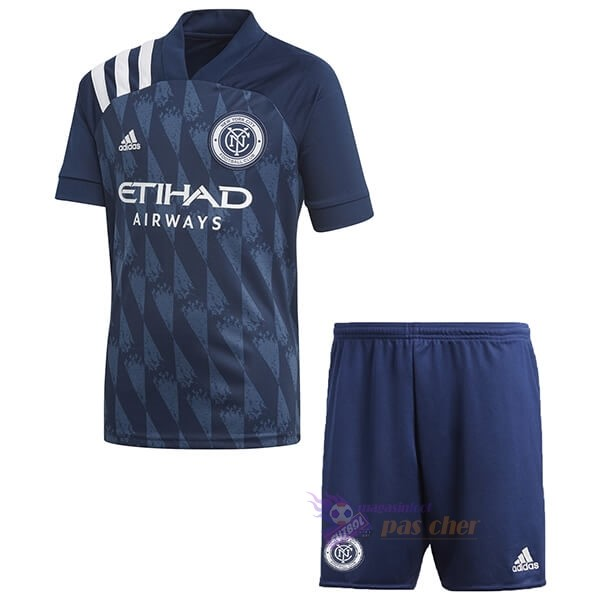 Magasin Foot adidas Domicile Ensemble Enfant New York City 2020 2021 Bleu