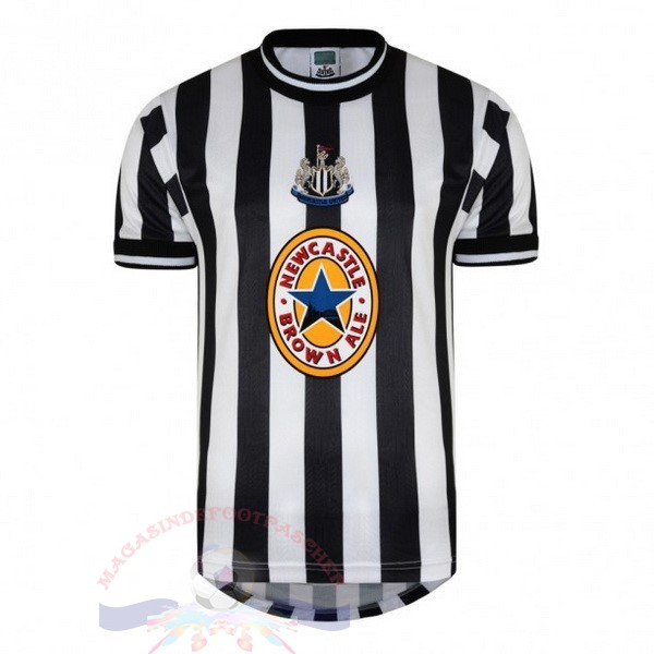 Magasin Foot adidas Domicile Maillot Newcastle United Retro 1997 1998 Noir Blanc