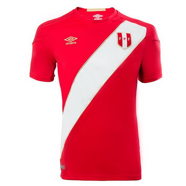 Magasin Foot umbro Exterieur Maillots Pérou 2018 Rouge