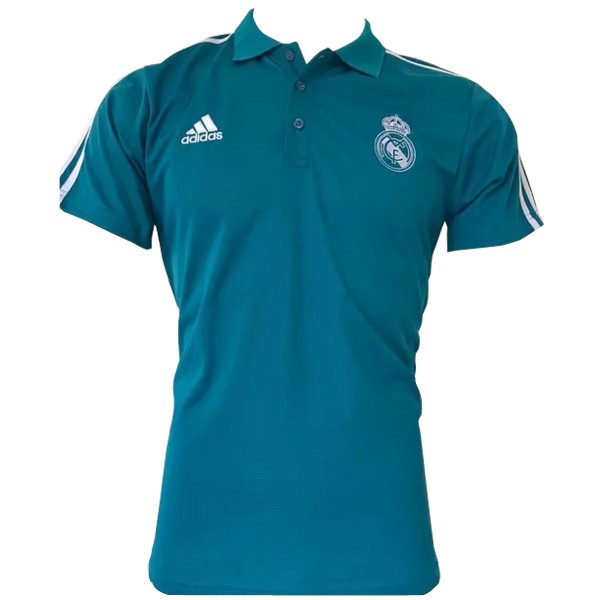 Magasin Foot adidas Polo Real Madrid 2017 2018 Blanc Bleu