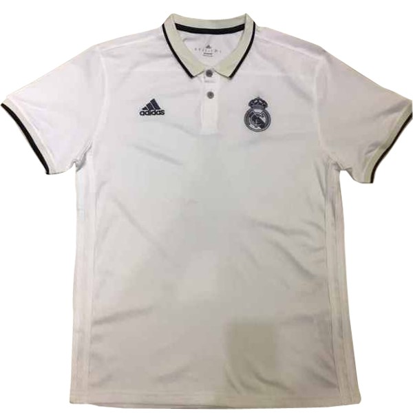 Magasin Foot adidas Polo Real Madrid 2017 2018 Blanc Noir