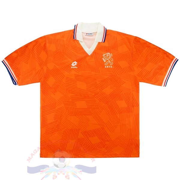 Magasin Foot Lotto Domicile Maillot Pays Bas Retro 1991 1992 Orange