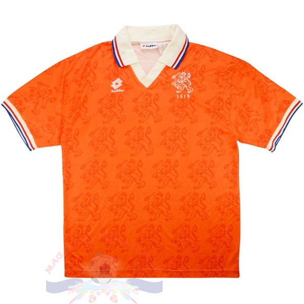 Magasin Foot Lotto Domicile Maillot Pays Bas Retro 1995 Orange