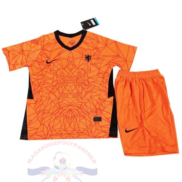 Magasin Foot Nike Domicile Conjunto De Enfant Pays-Bas 2020 Orange