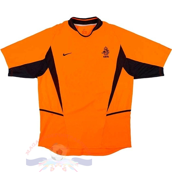 Magasin Foot Nike Domicile Maillot Pays Bas Retro 2002 Orange