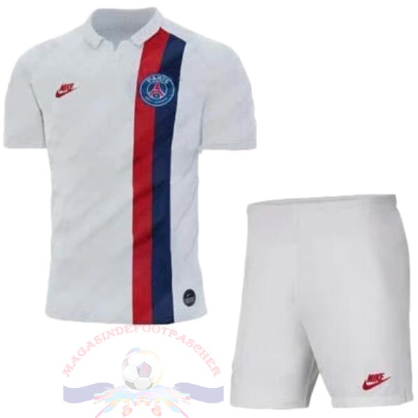 Magasin Foot Nike Third Ensemble Enfant Paris Saint Germain 2019 2020 Blanc