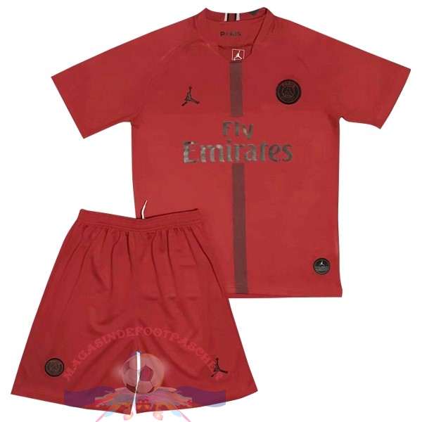 Magasin Foot JORDAN Ensemble Enfant Gardien Paris Saint Germain 2018-2019 Rouge