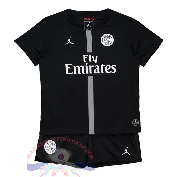 Magasin Foot JORDAN Third Domicile Ensemble Enfant Paris Saint Germain 2018-2019 Noir