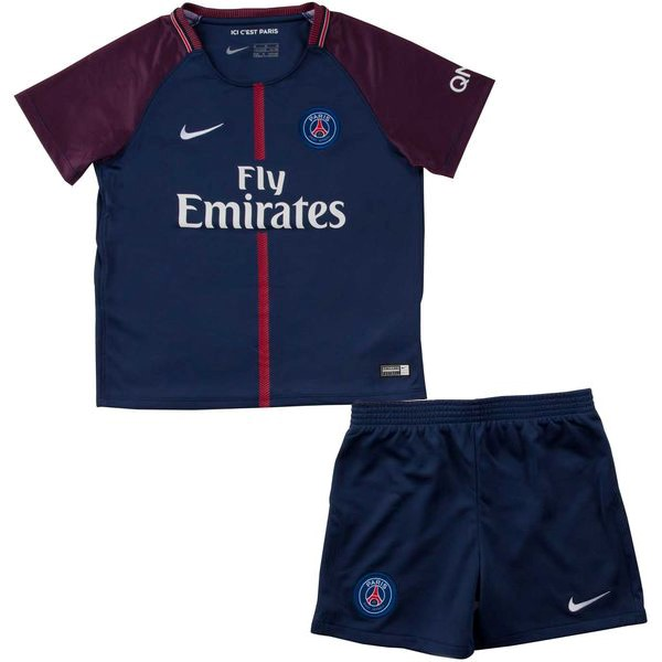 Magasin Foot Nike Domicile Ensemble Enfant Paris Saint Germain 2017 2018 Bleu