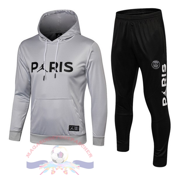 Magasin Foot JORDAN De Laine Survêtements Enfant Paris Saint Germain 18-19 Gris