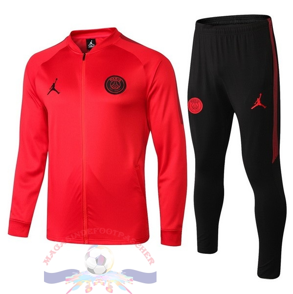 Magasin Foot JORDAN De Laine Survêtements Enfant Paris Saint Germain 18-19 Rouge