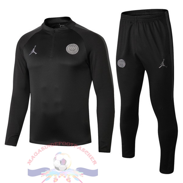 Magasin Foot JORDAN Survêtements Enfant Paris Saint Germain 18-19 Noir