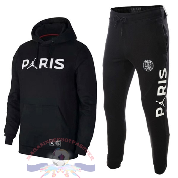 Magasin Foot JORDAN Survêtements Enfant Paris Saint Germain 18-19 Noir Blanc