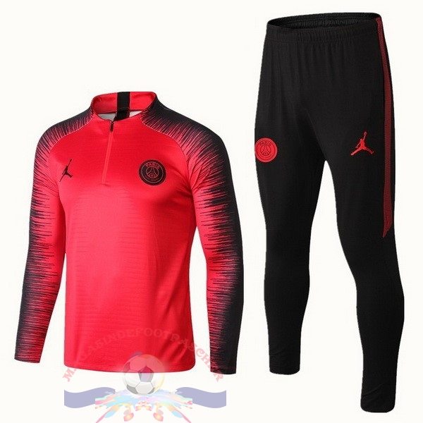 Magasin Foot JORDAN Survêtements Enfant Paris Saint Germain 18-19 Rouge Marine