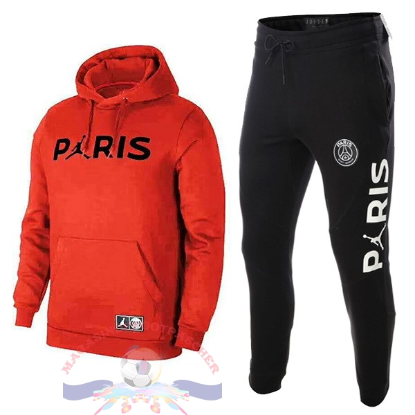 Magasin Foot JORDAN Survêtements Enfant Paris Saint Germain 18-19 Rouge Noir