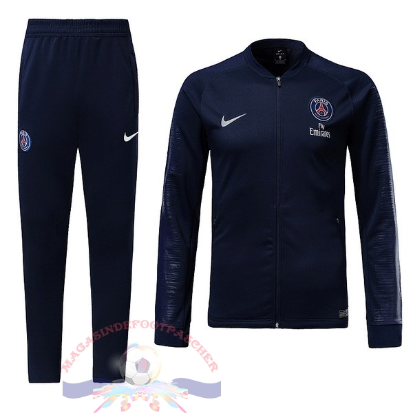 Magasin Foot Nike Survêtements Enfant Paris Saint Germain 18-19 Bleu Marine