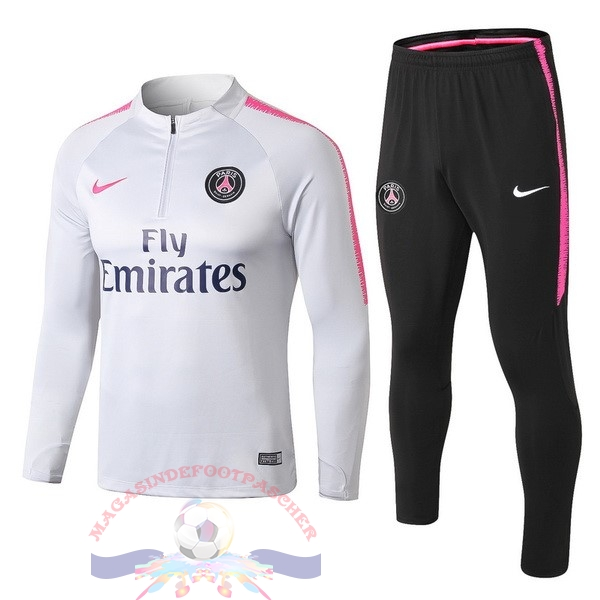 Magasin Foot Nike Survêtements Enfant Paris Saint Germain 18-19 Gris