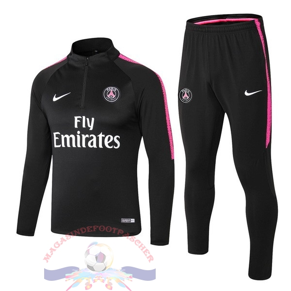 Magasin Foot Nike Survêtements Enfant Paris Saint Germain 18-19 Noir Rose Blanc
