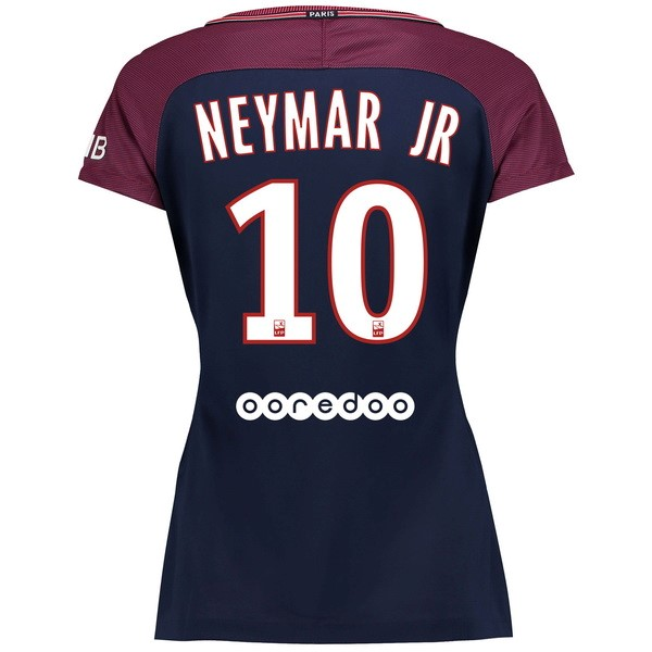 Magasin Foot Nike NO.10 Neymar JR Domicile Maillots Femme Paris Saint Germain 2017 2018 Bleu