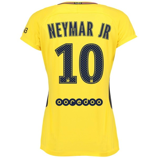 Magasin Foot Nike NO.10 Neymar JR Exterieur Maillots Femme Paris Saint Germain 2017 2018 Jaune