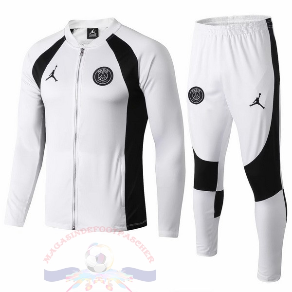 Magasin Foot JORDAN Survêtements Paris Saint Germain 2018 2019 Blanc