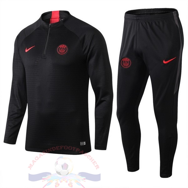 Magasin Foot Nike Survêtements Paris Saint Germain 2019 2020 Noir Rouge