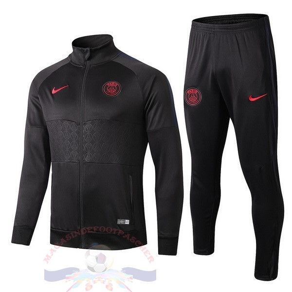Magasin Foot Nike Survêtements Paris Saint Germain 2019 2020 Rouge Noir