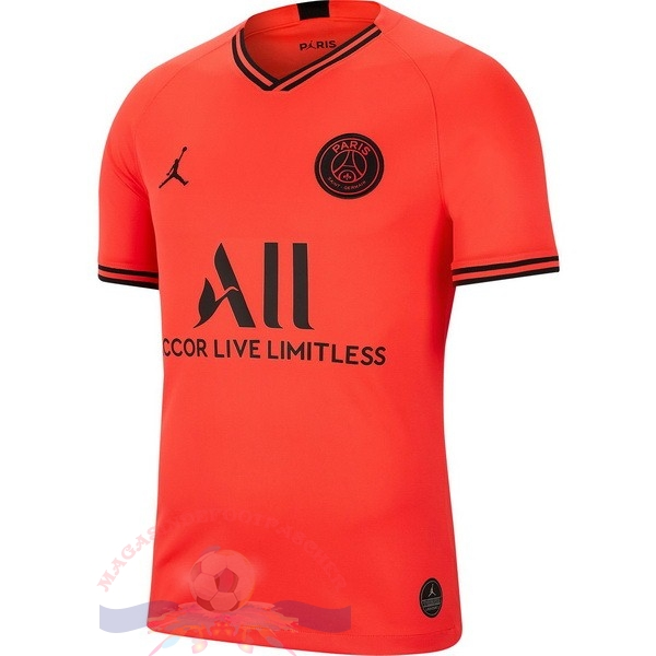 Magasin Foot Jordan Exterieur Maillot Femme Paris Saint Germain 2019 2020 Orange