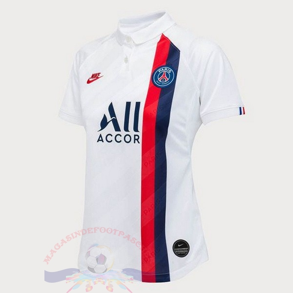 Magasin Foot Nike Third Maillot Femme Paris Saint Germain 2019 2020 Blanc
