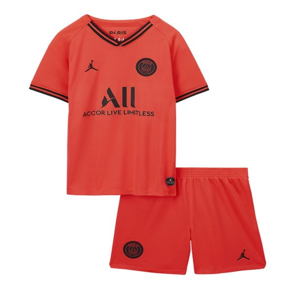 Magasin Foot JORDAN Exterieur Ensemble Enfant Paris Saint Germain 2019 2020 Orange
