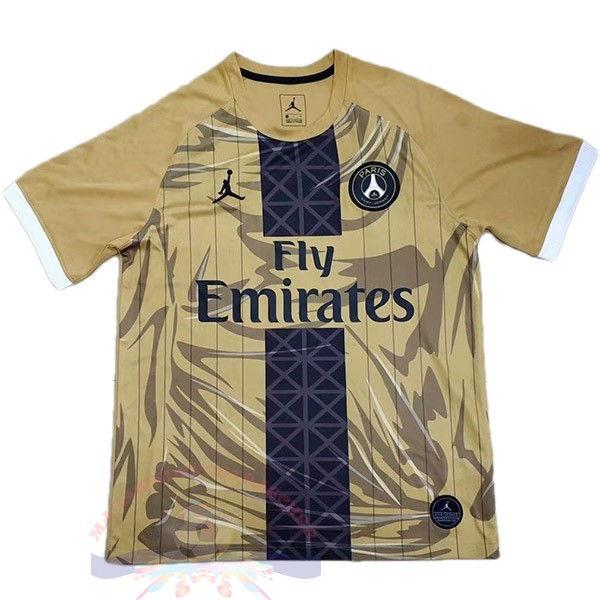 Magasin Foot Jordan Spécial Maillot Paris Saint Germain 2019 2020 Jaune