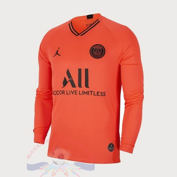 Magasin Foot JORDAN Exterieur Manches Longues Paris Saint Germain 2019 2020 Orange