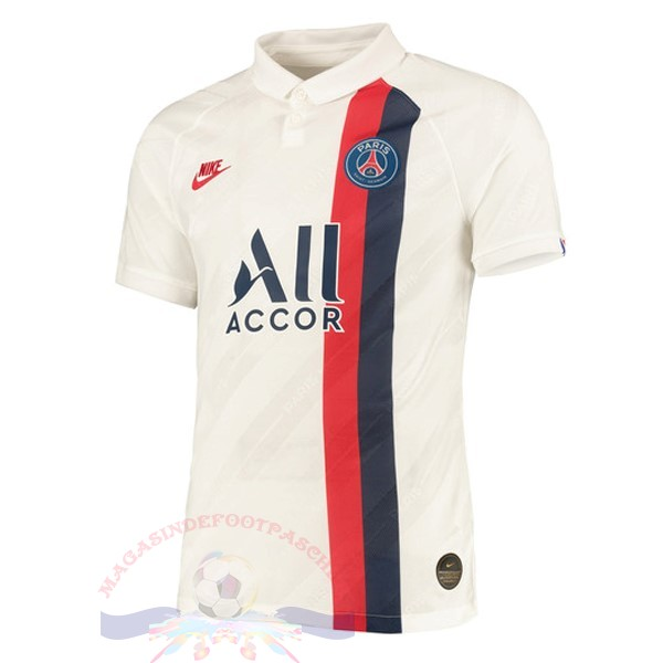 Magasin Foot Nike Thailande Third Maillot Paris Saint Germain 2019 2020 Blanc