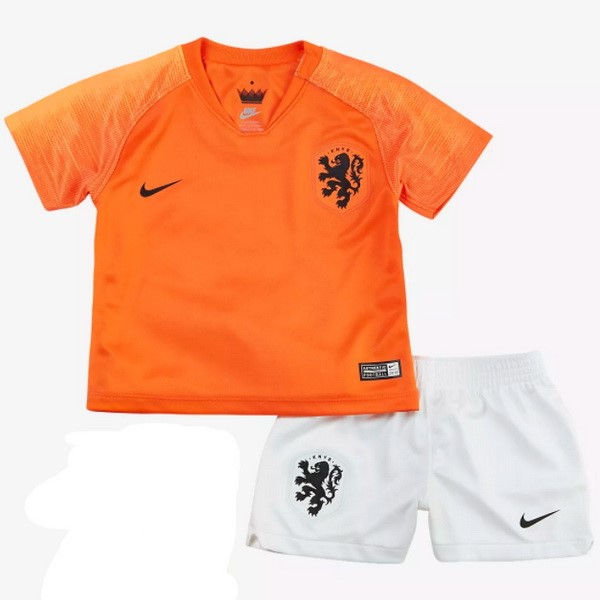 Magasin Foot Nike Domicile Ensemble Enfant Pays Bas 2018 Orange