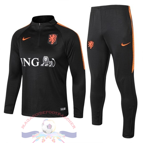 Magasin Foot Nike Survêtements Enfant Pays Bas 2018 Noir Orange