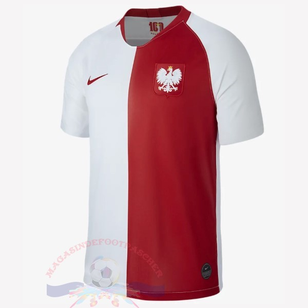 Magasin Foot Nike Maillot Pologne 100th Blanc Rouge