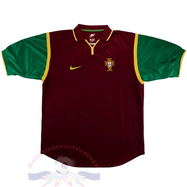 Magasin Foot Nike Domicile Maillot Portugal Rétro 1999 Rouge