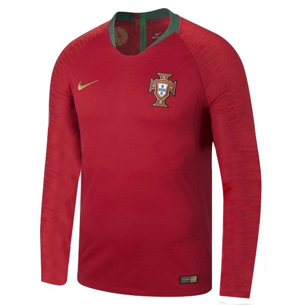 Magasin Foot Nike Domicile Manches Longues Portugal 2018 Rouge