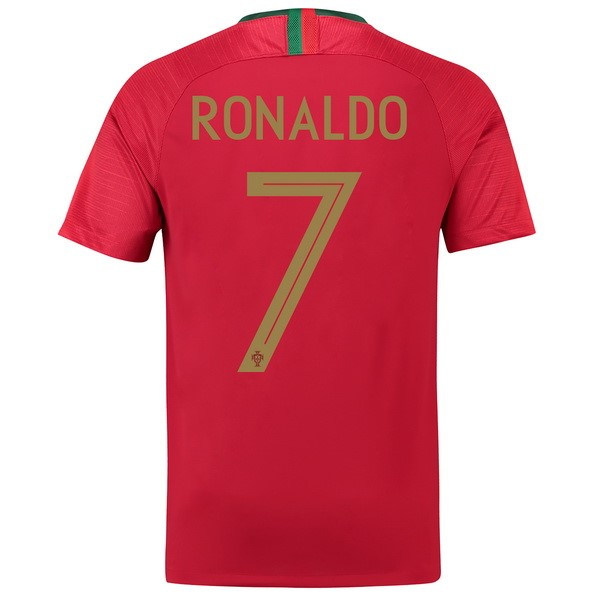 Magasin Foot Nike NO.7 Ronaldo Domicile Maillots Portugal 2018 Rouge