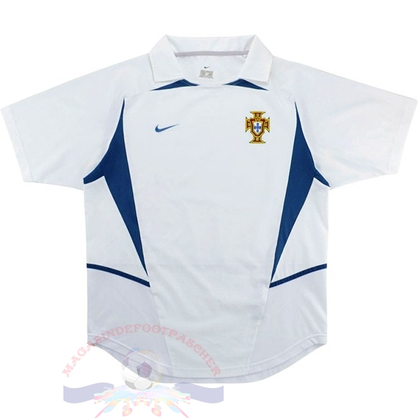 Magasin Foot Nike Exterieur Maillot Portugal Retro 2002 Blanc