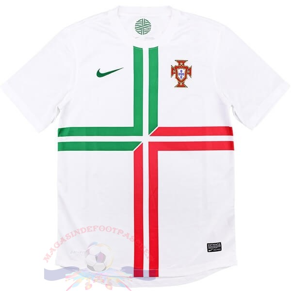 Magasin Foot Nike Exterieur Maillot Portugal Retro 2012 Blanc