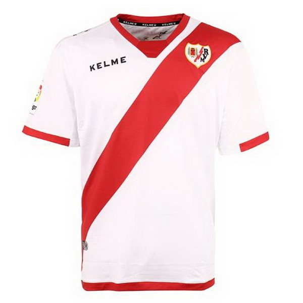 Magasin Foot Kelme Domicile Maillots Rayo Vallecano de Madrid 2017 2018 Blanc Rouge