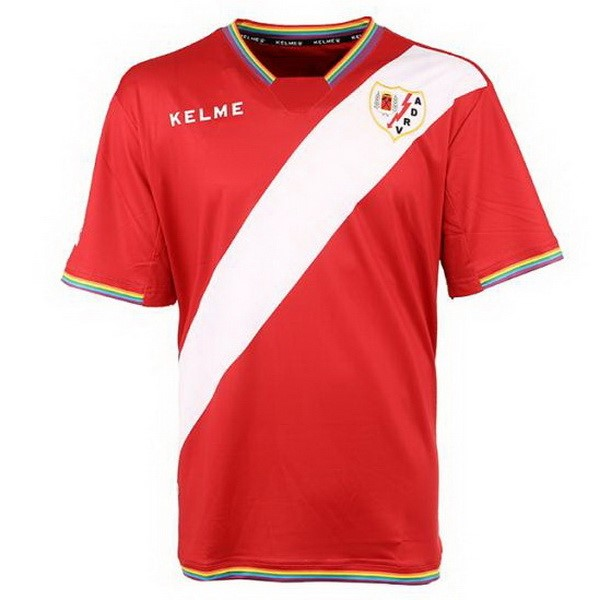 Magasin Foot Kelme Exterieur Maillots Rayo Vallecano de Madrid 2017 2018 Blanc Rouge