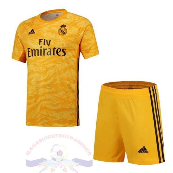 Magasin Foot Adidas Domicile Ensemble Enfant Gardien Real Madrid 2019 2020 Amarillo