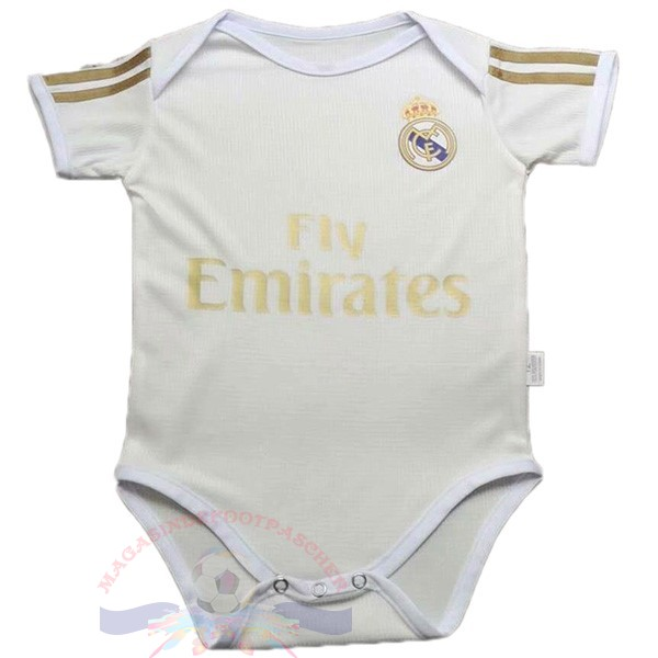 Magasin Foot Adidas Domicile Onesies Enfant Real Madrid 2019 2020 Blanc